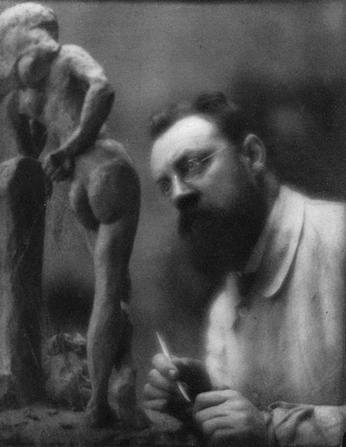 Auguste Rodin, portrait photo