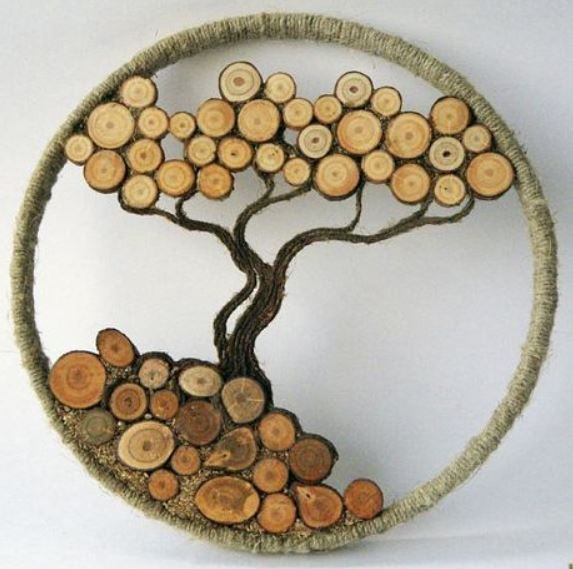 15 Crafty Wood Slice Projects You'll Want For Your Home