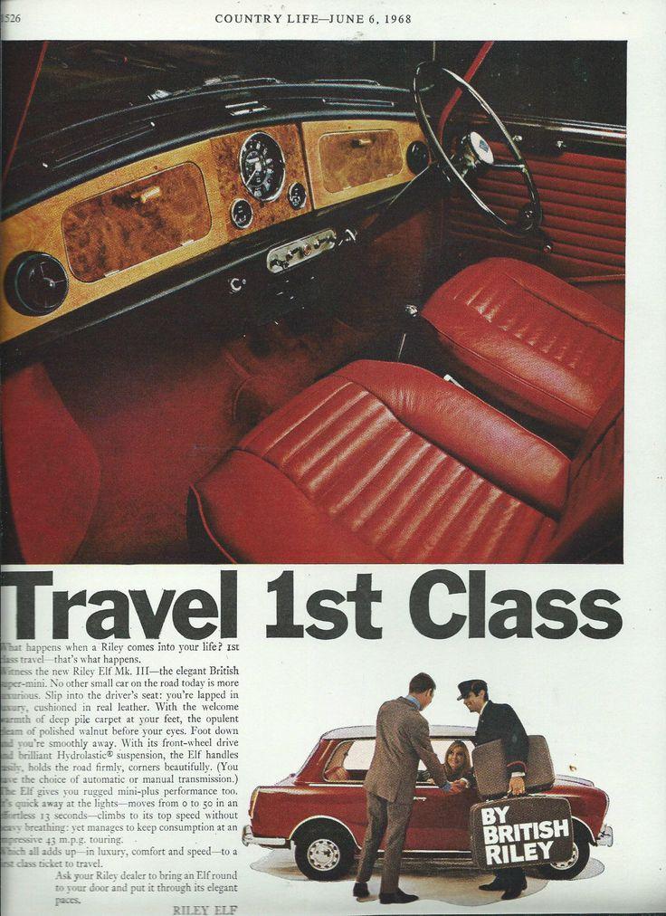 RILEY ELF CAR ADVERT MAGAZINE CLIPPING NOT A COPY GOOD TO FRAME | eBay