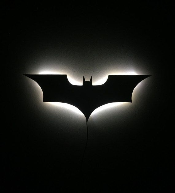 Décoration murale lumineux LED signe Batman par IlluminateMeSigns