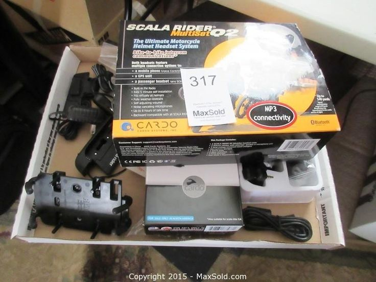 MaxSold - Auction: Gananoque  Estate Online Auction - ITEM: Scala Rider Motorcycle Headset sold for $170