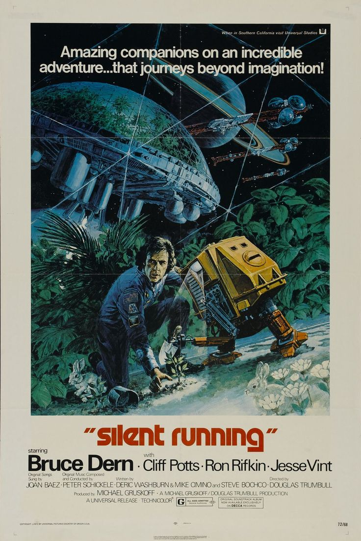 "MP701. ""Silent Running"" Movie Poster by George Akimoto (Douglas Trumbull 1972) / #Movieposter"