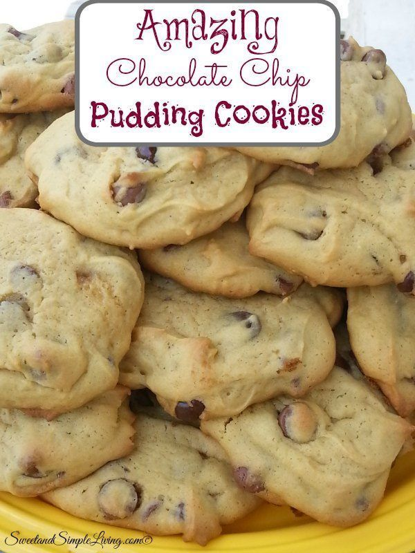 These Amazing Chocolate Chip Pudding Cookies went together so quickly! Another plus was that we already had everything we needed to make them on hand!