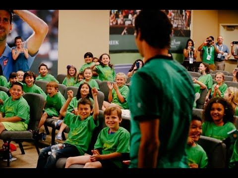 BNP Paribas Open 2017: Kid Reporters Quiz Roger Federer - YouTube