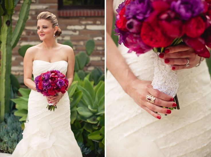 red and purple bouquet- love these colors together! photo by Gabriel Ryan Photographers, planning & design by Lindye Galloway DesignsFiestas Inspiration, Lindy'S Galloway, Color Schemes, Red Purple White Bouquets, California Fiestas, Gabriel Ryan, Colors Schemes, Colors Together, Galloway Design