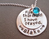 For this child I have prayed necklace