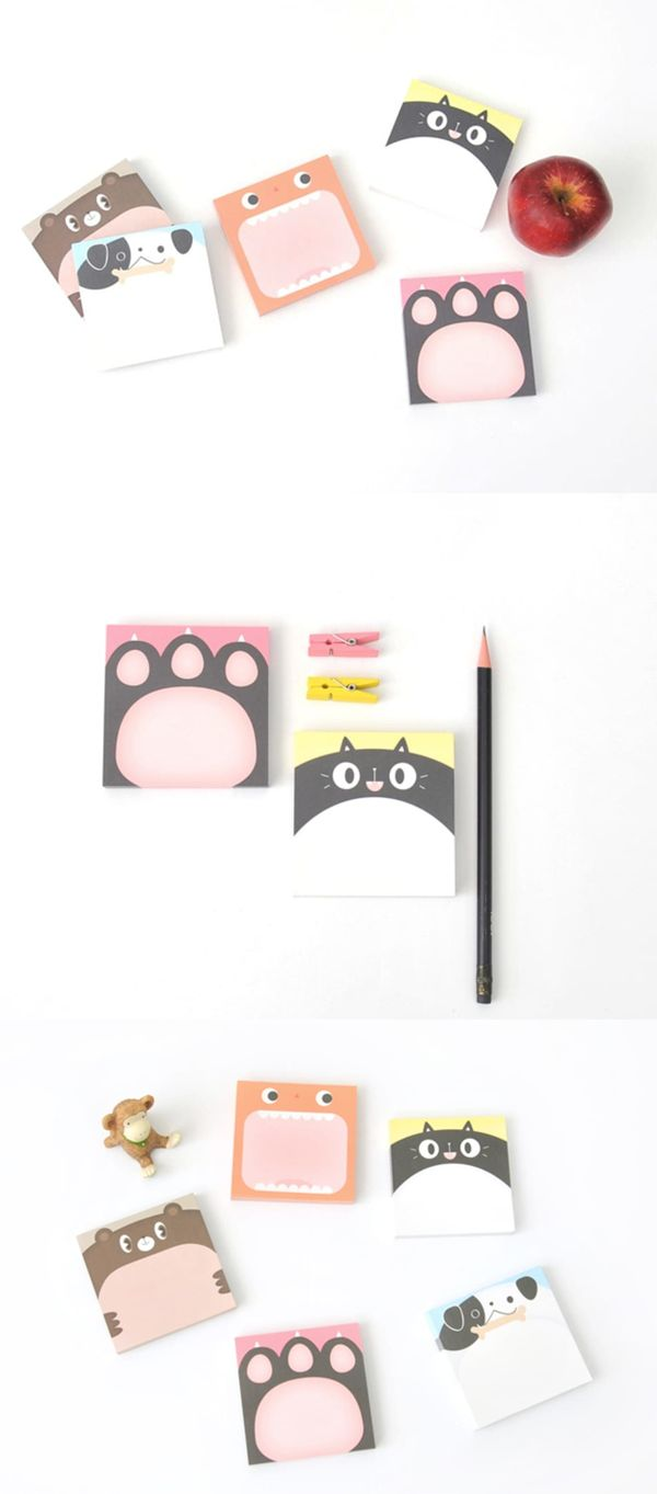 So cute! This Big Animal face Memo Pad Set is a collection of adorable animal design memo pads to write your memos! They'll help you remember things, send short messages or even decorate your place!