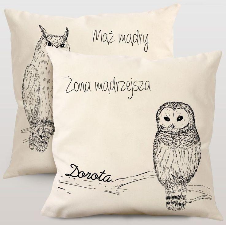 Komplet poduszek personalizowanych MĄDRALE