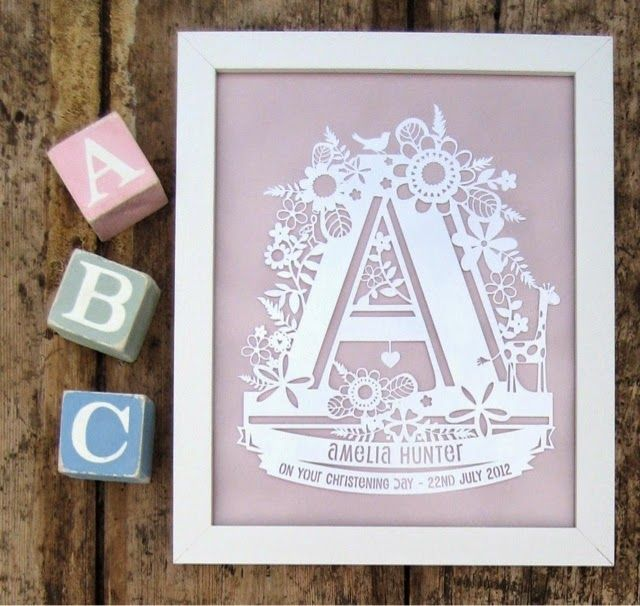 Birth Announcement Papercut Gift