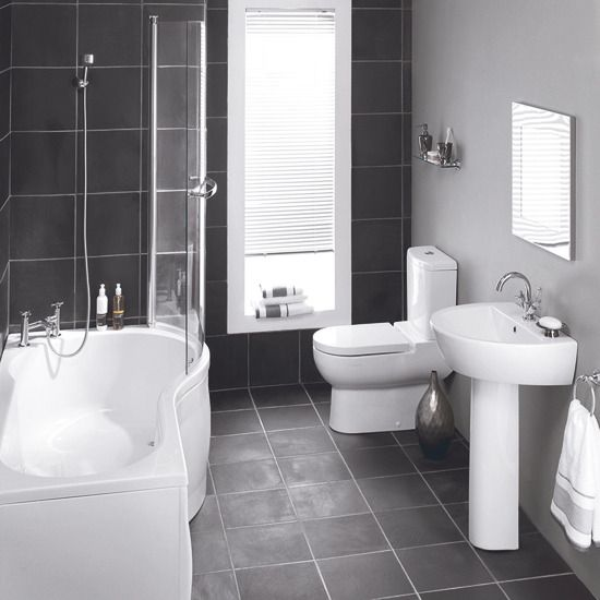 Shower Over Bath Curved End To Make Shower More Spacious Note Also The Slate