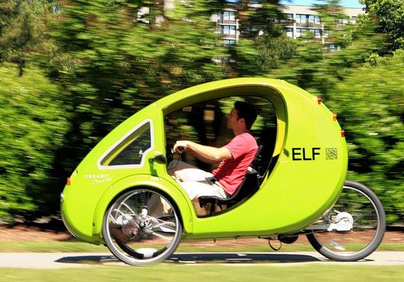 Elf electric pedal car - Bike lane legal light electric vehicle. 30 mile range, charges via rooftop solar panel. It can be yours for only 5,000 U.S..