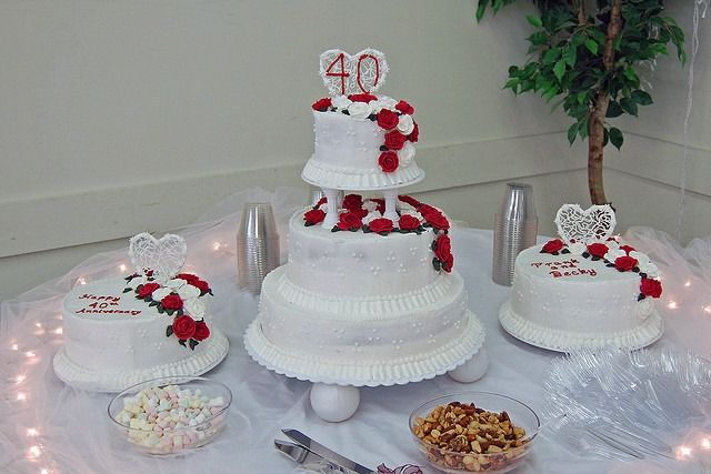 Traditional 40th Wedding Anniversary Gifts: Best 20+ 40th Anniversary Cakes Ideas On Pinterest