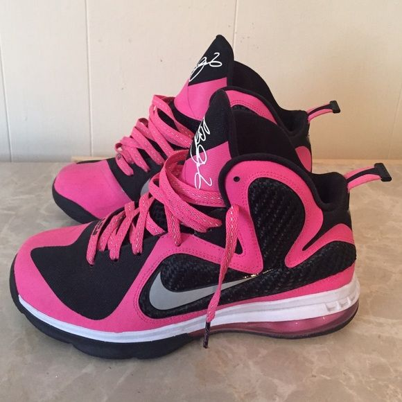 CRAZY SALE - Pink Lebron 9s Pink Lebron 9s. Size 6Y. Mint condition. Now Accepting Offers  Nike Shoes