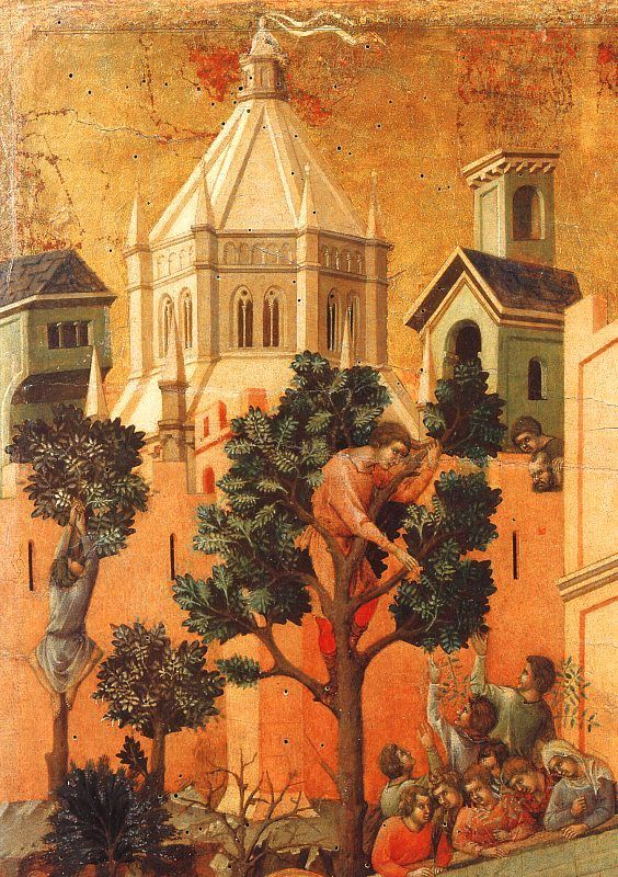 Duccio di Buoninsegna  //  The reverse of the Maestà has the rest of a combined cycle of the Life of the Virgin and the Life of Christ in a total of forty-three small scenes.