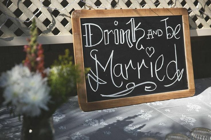 Drinks table sign