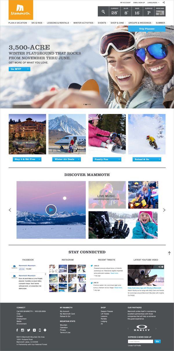 Mammoth Resort Website Redesign Pitch by  Janice Weiner