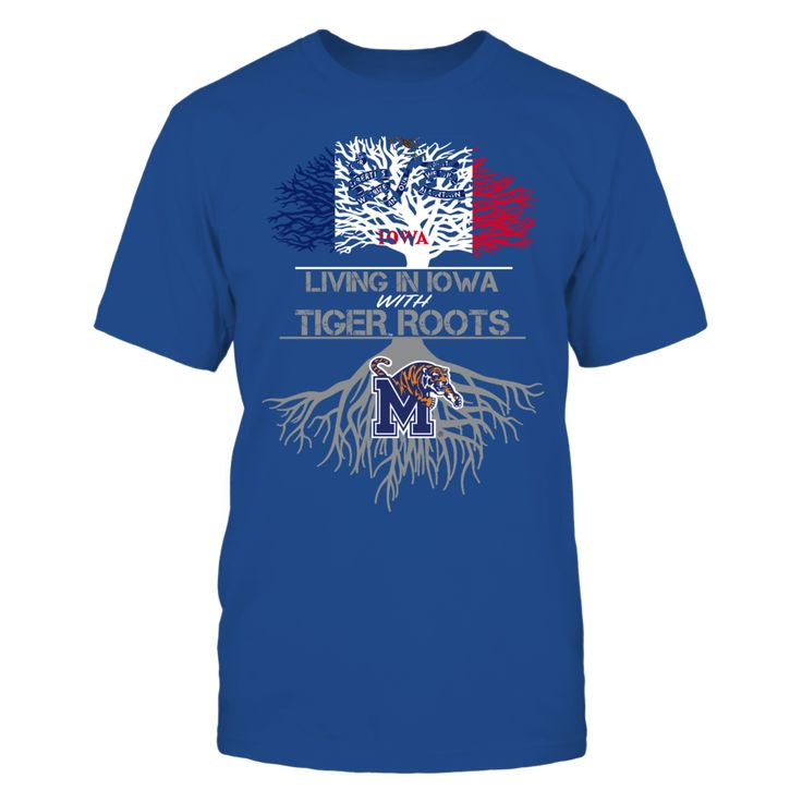 Memphis Tigers - Living Roots Iowa T-Shirt, TIP: If you buy 2 or more (hint: make a gift for someone or team up) you'll save quite a lot on shipping.  Click the GREEN BUTTON, select your size and style.  The Memphis Tigers Collection, OFFICIAL MERCHANDISE  Available Products:          Gildan Unisex T-Shirt - $24.95 Gildan Women's T-Shirt - $26.95 District Men's Premium T-Shirt - $27.95 District Women's Premium T-Shirt - $29.95 Next Level Women's Premium Racerback Tank - $29.95 Gildan Unisex…