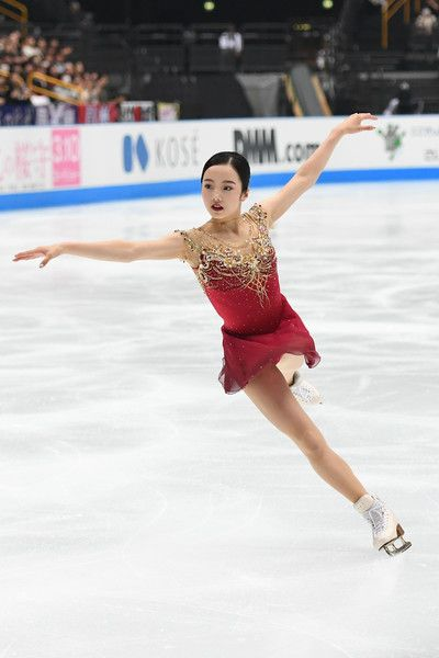 Marin Honda of Japan competes during the figure skating Japan Open at Saitama Super Arena on October 7, 2017 in Saitama, Japan.