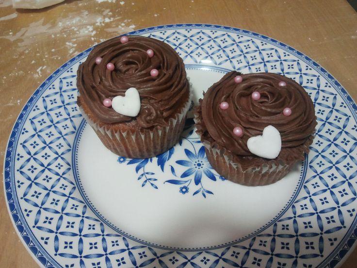 Mis primeros cupcakes de chocolate blanco y ganache de chocolate