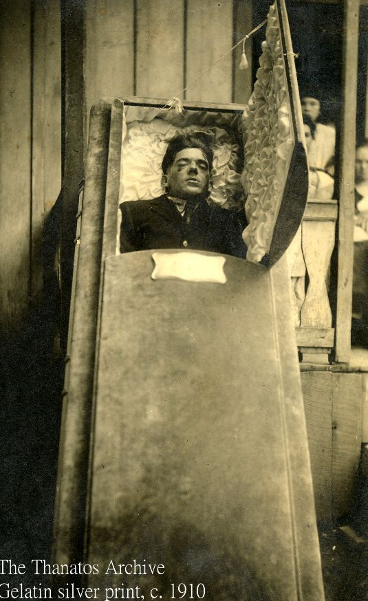 post mortem photography of a young man