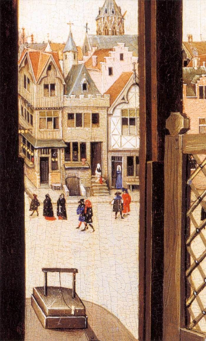 ROBERT CAMPIN, particolare trittico di Mèrode