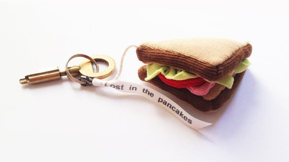 Porte-clef club-sandwich by Lostinthepancakes on Etsy