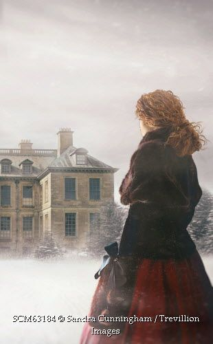 Trevillion Images - historical-woman-walking-in-the-snow