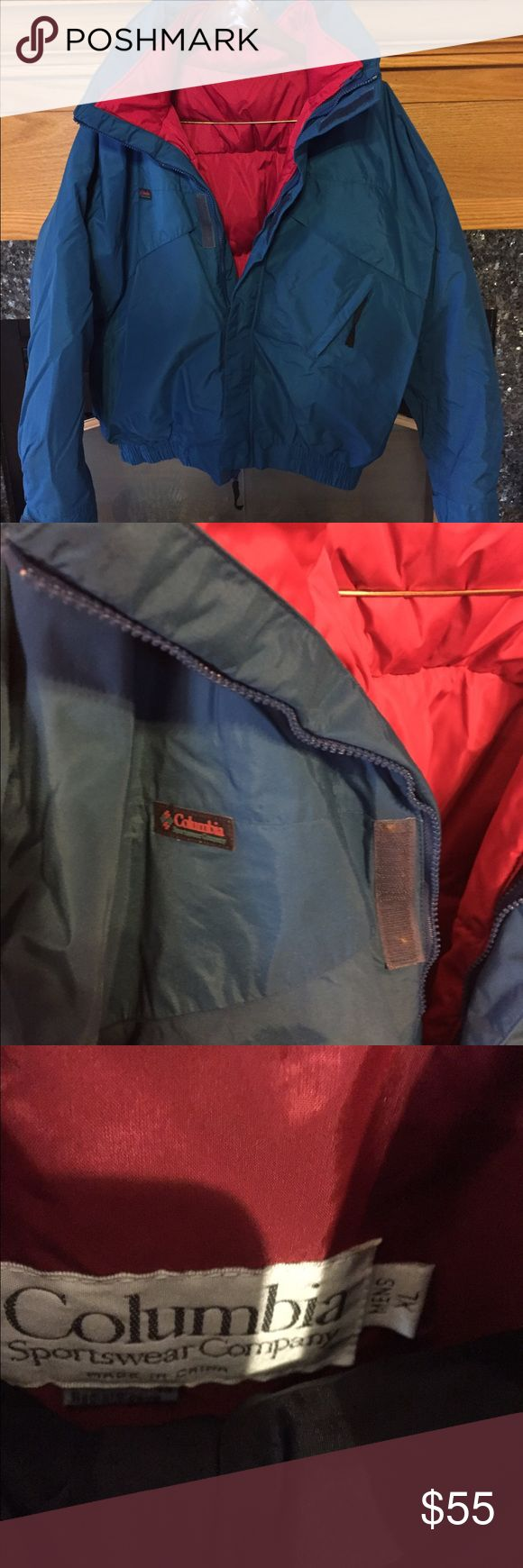 Vintage Men's Columbia coat XL No flaws noted. Near perfect condition. Very warm with removable jacket inside. I do  accept reasonable offers. My items priced $15 and under are fairly fixed but I do offer great discounts for bundles. The more you buy the bigger the discount. Columbia Jackets & Coats Ski & Snowboard