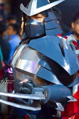 shredder V-2003 cosplay at Halloween expo