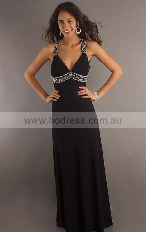 Sleeveless None Shoulder Straps Floor-length Chiffon Formal Dresses dt00390--Hodress
