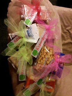 Snack food goodies as thank you gifts....Cookin' Up Fun With Middle School Math: Teacher Appreciation Day 4