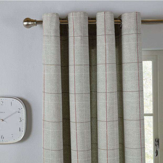 Buy Argos Home Brancaster Check Lined Eyelet Curtains Grey At Argos Thousands Of Products For Same Day Delivery 3 95 Or Grey Curtains Curtains Argos Home