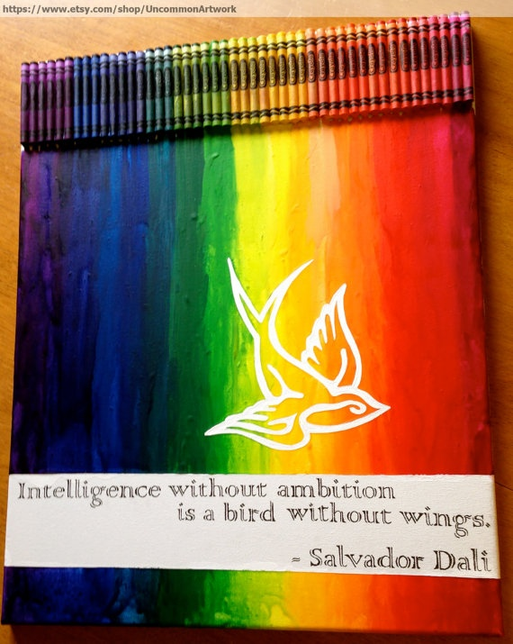 Melted Crayon Art - Intelligence. I wouldn't have the patience or artistic ability to do this, but it's really cool!!