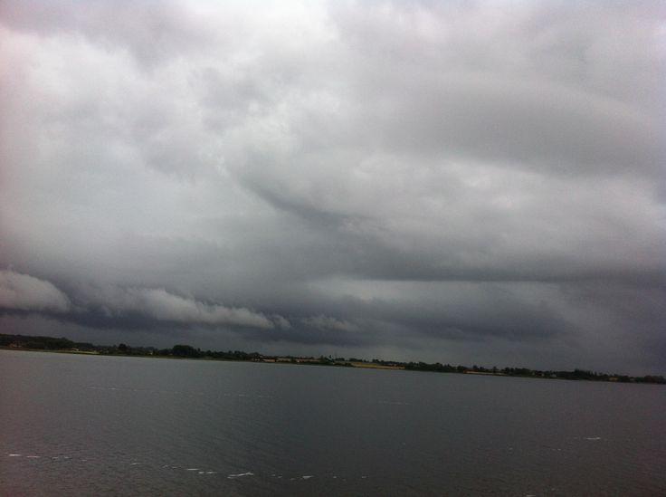 Himmel og hav set fra Ærøfærgen den 4.september