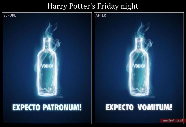 """I came across this Harrypotterish Absolut ad (one on the left) and thought it could be turned into a nice mini-story.    I don't know if the original ad was """"official"""", fan-made or leaked, but who cares?"""