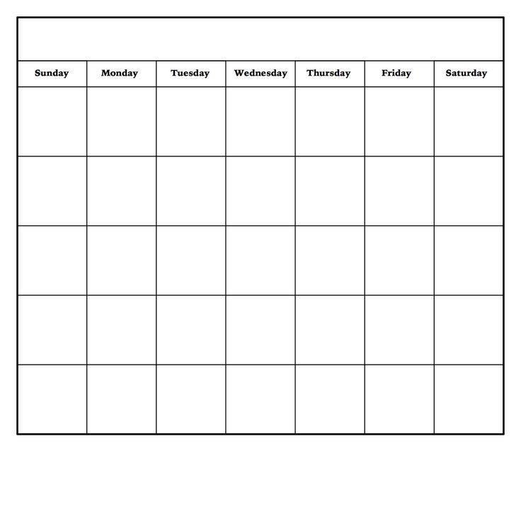 Blank Calendar Budget Template 2019   Free Monthly ...