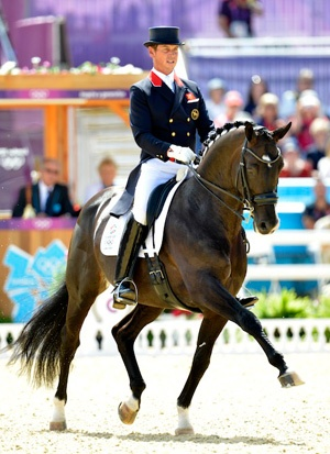 First day dressage leaders Carl Hester and Uthopia. (Photo by Kit Houghton/FEI)