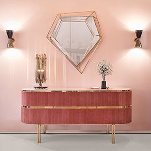 Inspired by the asymmetrical and dazzling shapes of a Diamond rock, this five-sided polygon mirror is the ultimate combination of geometry and design. The use of a polished brass structure enhances the luxurious element within this object resulting in a sophisticated dynamic piece that stands out in any ambiance.  See more: https://goo.gl/Tt8Fc8