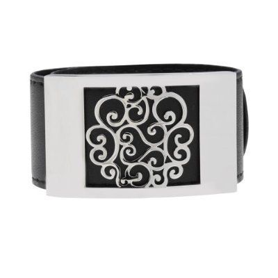 PlusMinus 316L Stainless Steel Retro Flower Leather Bangle Cuff Bracelet For Women +Gift Box PlusMinus Co.. $20.19. Circumference:17Cm-24Cm. Save 67%!
