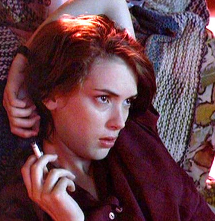 "Winona Ryder en ""Reality Bites"", 1994"