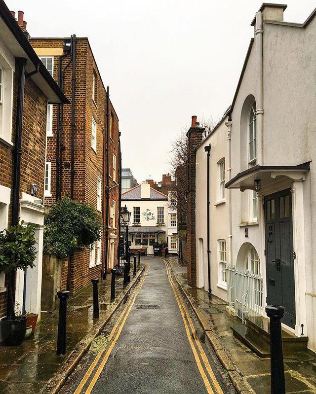Lovely street in Hampstead, London.