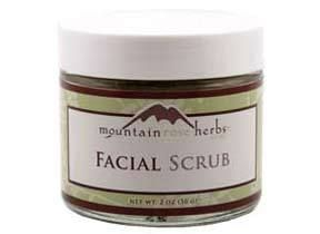 Mountain Rose Herbs: Facial Scrub  I use this as a mask, not too harsh on dry skin.