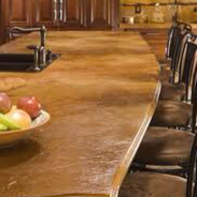 Great Stained Cement Countertops | Stained Concrete Countertop | Stained Concrete