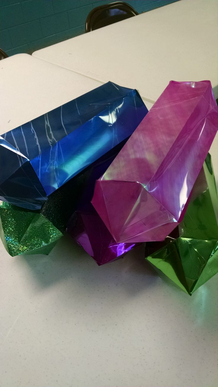 3D Crystals we made for Cave Quest decor