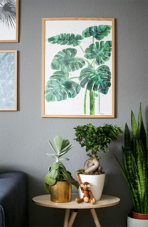 urbanjunglebloggers, plants art, houseplants, art, home decor, indoor plants