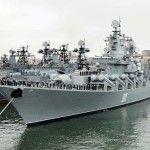 La nave da guerra russa Varyag attracca ad Alessandria d'Egitto