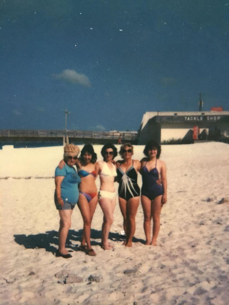 Panama City Beach 1984. Mom's 27th birthday. Right to left:Great Grandma Mom Grandma Great Aunt Aunt.