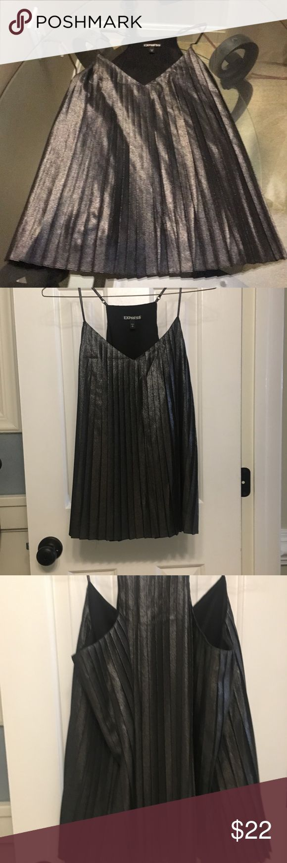 Metallic cami/tank Never worn. Excellent condition. Small. Express Tops Tank Tops