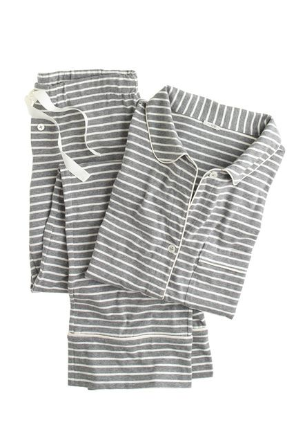 J.Crew Dreamy Cotton Pajama Set, $78, available at J.Crew.  http://www.refinery29.com/pajamas-sets#slide17