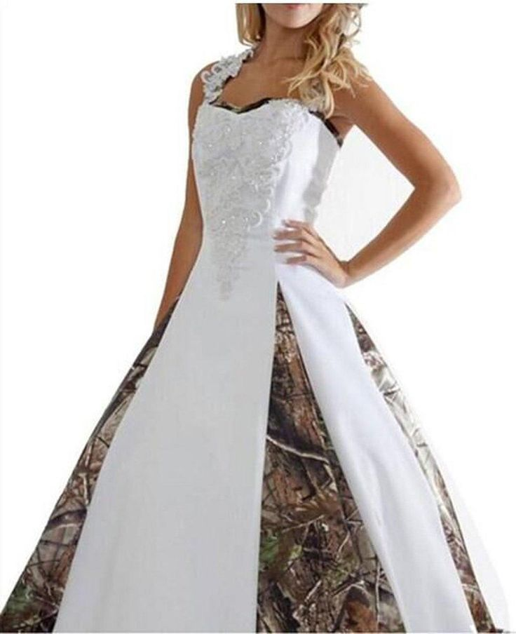 2016 New Sexy Camouflage Wedding Dresses With Appliques Ball Gown Long Party Dress Bridal Gowns